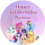 Personalised My Little Pony Cake Topper